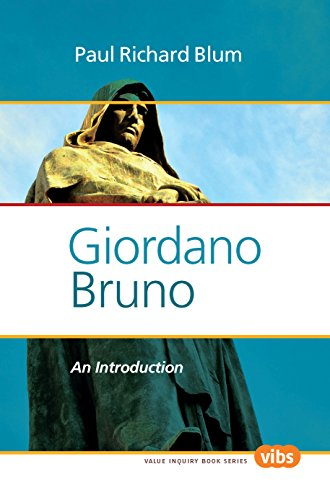 9789042035553: Giordano Bruno: An Introduction (Values in Italian Philosophy)