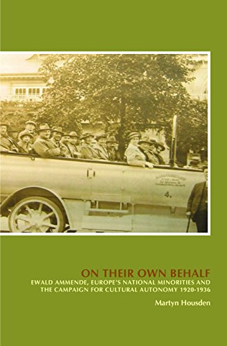 9789042038769: On Their Own Behalf Ewald Ammende, Europe's National Minorities and the Campaign for Cultural Autonomy 1920-1936 (On the Boundary of Two Worlds: ... and Moral Imagination in the Baltics)
