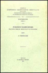 Philoxeni Mabbugensis tractatus tres de Trinitate et Incarnatione: VaschaldeA.,