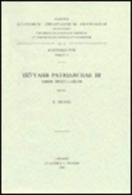 Iso'yahb patriarchae III. Liber epistularum: DuvalR.,