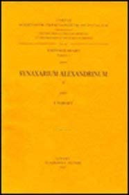 Synaxarium Alexandrinum, II: ForgetI.,