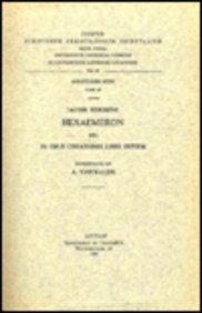 Iacobi Edesseni Hexaemeron seu in opus creationis libri septem: VaschaldeA.,