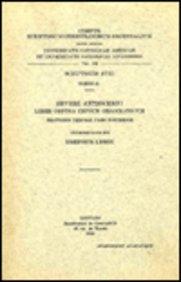 Severi Antiocheni liber contra impium Grammaticum. Orationis tertiae pars posterior: LebonI.,