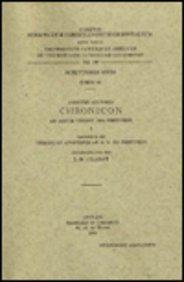 Anonymi auctoris Chronicon ad A.C. 1234 pertinens, I. Praemissum est Chronicon anonymum ad A.D. 819...