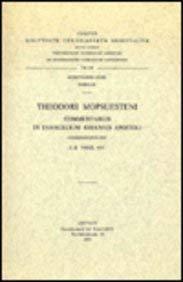 Theodori Mopsuesteni commentarius in evangelium Iohannis Apostoli. Syr. 63.= Syr. IV, 3 (Corpus ...