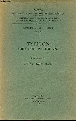 Typicon Gregorii Pacuriani. Iber. 4. (Corpus Scriptorum Christianorum Orientalium): Tarchnisvili, M