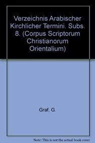 Verzeichnis arabischer kirchlicher Termini: GrafG.,