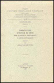 Commentaire d'Iso'dad de Merv sur l'Ancien Testament, II. Exode-Deutéronome: ...