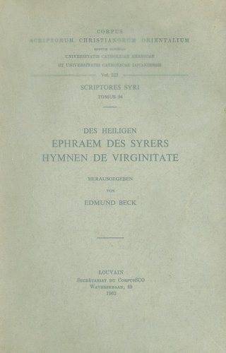 Des heiligen Ephraem des Syrers Hymnen de Virginitate: BeckE.,