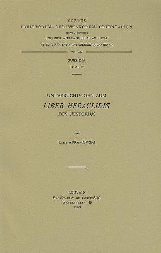 Untersuchungen zum Liber Heraclidis des Nestorius. Subs.: Abramowski, L