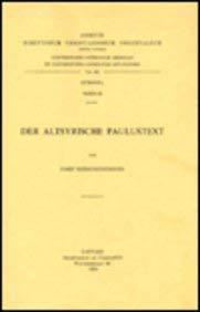 Der altsyrische Paulustext: KerschensteinerJ.,