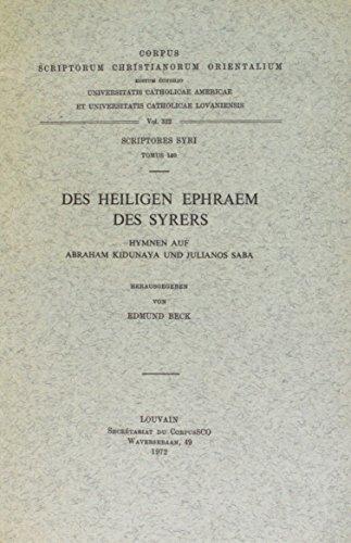 Des heiligen Ephraem des Syrers Hymnen auf: Beck, Deborah