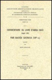 Commentaire du livre d'Abba Isaïe par Dadiso Qatraya (VIIe siècle): DraguetR.,