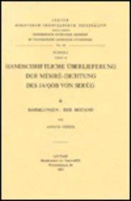 Handschriftliche Überlieferung der Memre-Dichtung des Ja'qob von Serug, II. Sammlungen: ...