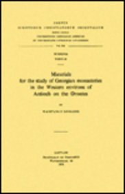 Materials for the Study of Georgian Monasteries: Djobadze Aw Z.