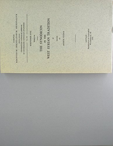 9789042904163: The Synodicon in the West Syrian Tradition, II. Syr. 163. (Corpus Scriptorum Christianorum Orientalium)