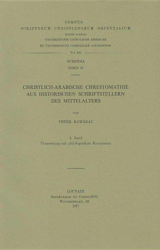 Christlich-Arabische Chrestomathie aus historischen Schriftstellern des Mittelalters, II. Ü...