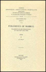Philoxenus of Mabbug. Fragments of the Commentary on Matthew and Luke: WattJ.W.,