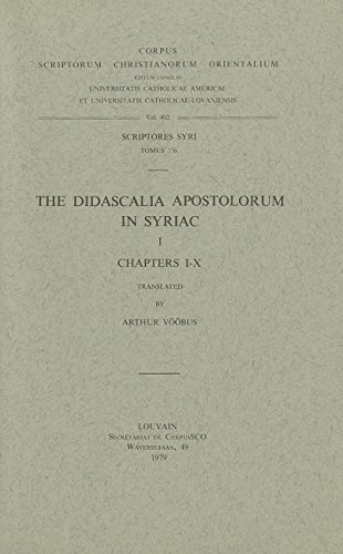 The Didascalia Apostolorum in Syriac, I: V��busA.,