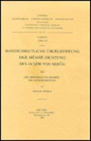Handschriftliche Überlieferung der Memre-Dichtung des Ja'qob von Serug. III: V��busA.,