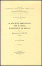La version arménienne des oeuvres d'Aphraate le Syrien, III: LafontaineG.,