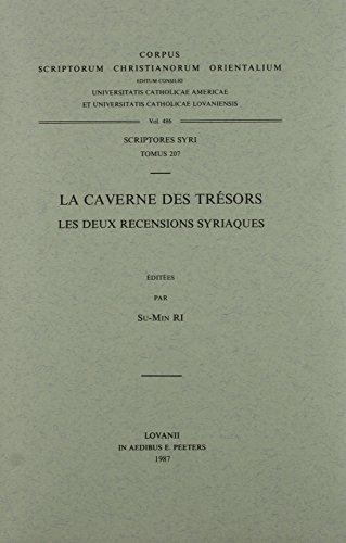 La caverne des trésors. Les deux recensions syriaques: Su-MinRi R.,