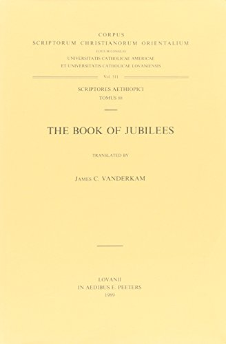 The Book of Jubilees. A Critical Text.: Vanderkam, JC
