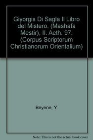 Giyorgis di Sagla. Il libro del Mistero (Mashafa Mestir), II: BeyeneY.,