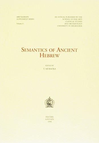 9789042905924: Semantics of Ancient Hebrew (Ancient Near Eastern Studies Supplement Series)