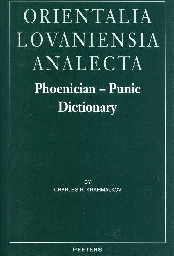 9789042907706: Phoenician-Punic Dictionary (Orientalia Lovaniensia Analecta, 90)