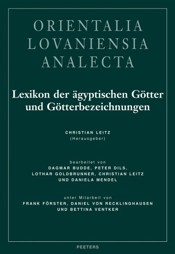 9789042911468: Lexikon Der Agyptischen Gotter Und Gotterbezeichnungen: Band I: 1 (Orientalia Lovaniensia Analecta)