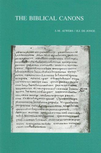 The Biblical Canons (Bibliotheca Ephemeridum Theologicarum Lovaniensium): Auwers, J-M, de Jonge, HJ
