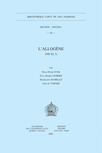 L'Allogène (NH XI, 3): FunkW.-P., PoirierP.-H., Scopello M., Turner J.D.,