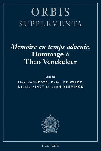 9789042913646: M�moire en temps advenir. : Hommage � Th�o Venckeleer