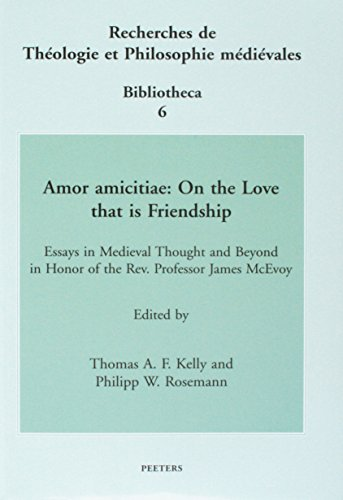 9789042913950: Amor amicitiae: On the Love that is Friendship (Recherches de Theologie et Philosophie Medievales - Bibliotheca)