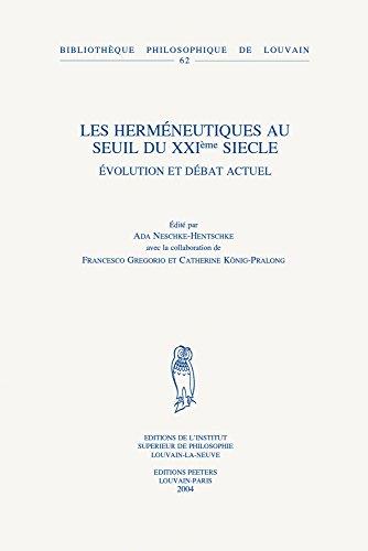 9789042914438: Les Herméneutiques au seuil du 21e siècle