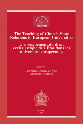 9789042916104: The Teaching of Church-State Relations in European Universities - L'enseignement du droit