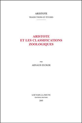 9789042916609: Aristote et les classifications zoologiques (Aristote. Traductions et Etudes)