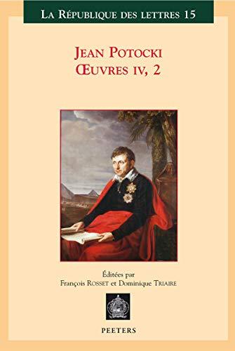 9789042916661: Jean Potocki, OEuvres IV-2: le manuscrit trouvé à Saragosse (version de 1804)