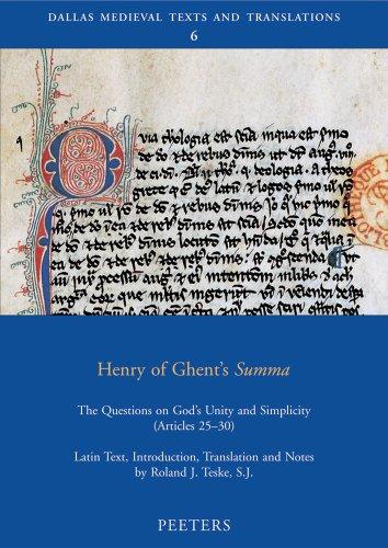 Henry of Ghent's «Summa»: Teske R.J.,
