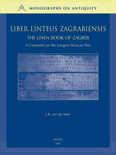9789042920248: Liber Linteus Zagrabiensis. The Linen Book of Zagreb (Monographs on Antiquity)