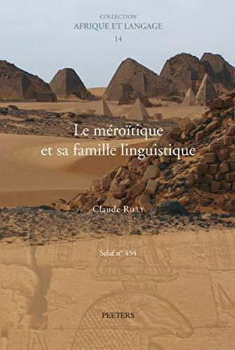 9789042922372: Le Meroitique Et Sa Famille Linguistique