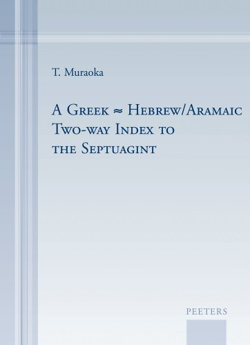 9789042923560: A Greek-Hebrew/Aramaic Two-way Index to the Septuagint