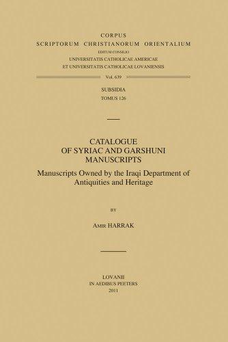 Catalogue of Syriac and Garshuni Manuscripts: Harrak A.,