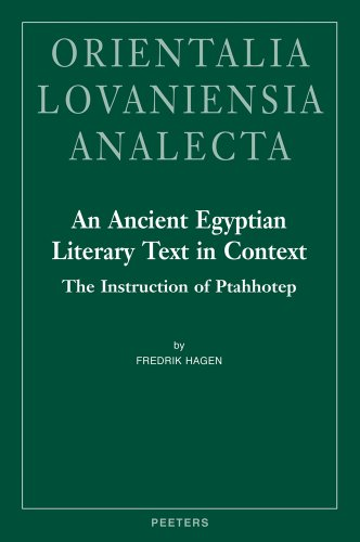 9789042926004: An Ancient Egyptian Literary Text in Context: The Instruction of Ptahhotep (Orientalia Lovaniensia Analecta)