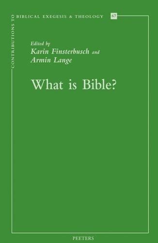 What is Bible?: Finsterbusch K., Lange A.,