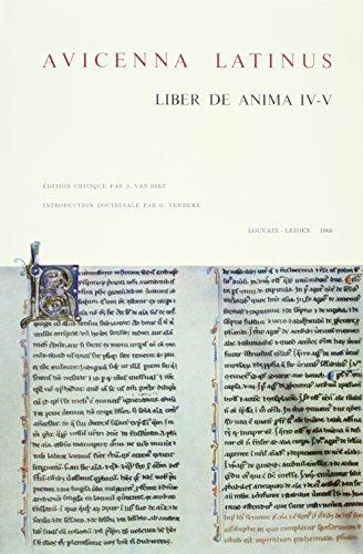 Avicenna Latinus. Liber De Anima Seu Sextus: S. Van Riet