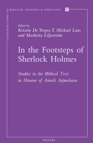 9789042930414: IN THE FOOTSTEPS OF SHERLOCK H (Contributions to Biblical Exegesis & Theology)