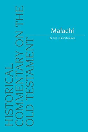 Malachi: Snyman S.D.,