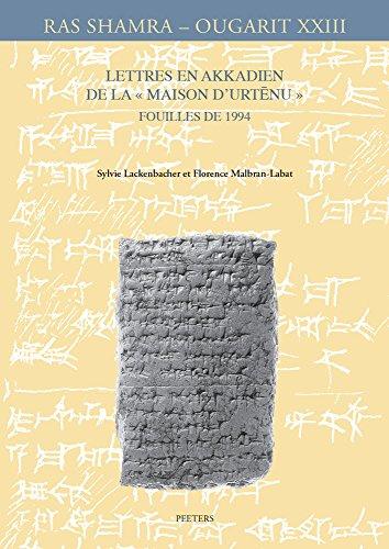 9789042933750: Lettres En Akkadien de la Maison D'Urtenu. Fouilles de 1994 (Ras Shamra - Ougarit)